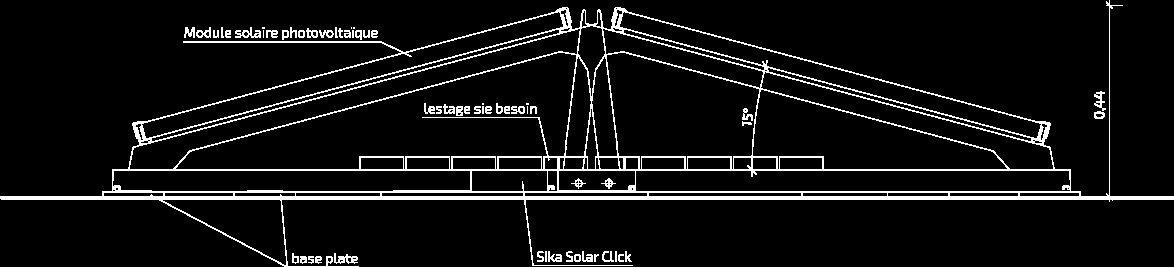 SSM1 Coupe transversale : Orientation est / ouest