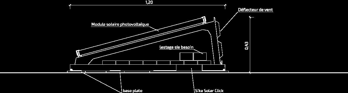 SSM1 Coupe transversale : Orientation sud